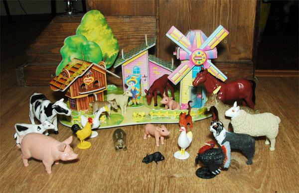 Игрушки животные домашние